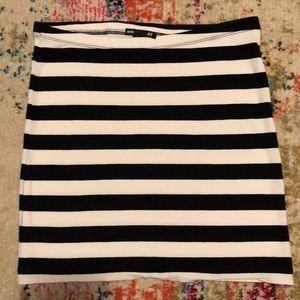 H&M striped skirt